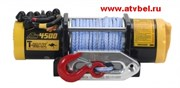 Лебедка электрическая для тяжелого квадроцикла T-MAX ATW-PRO 4500 с синтетическим тросом  W0372