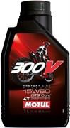 Масло MOTUL 300V 4T FACTORY LINE OFF ROAD 15W60 1 литр  104137